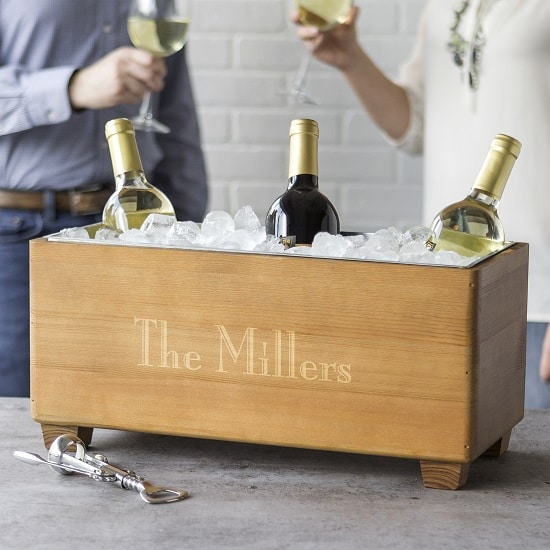 The beverage trough also is great for wine. It will hold up to 6 bottles plus ice.
