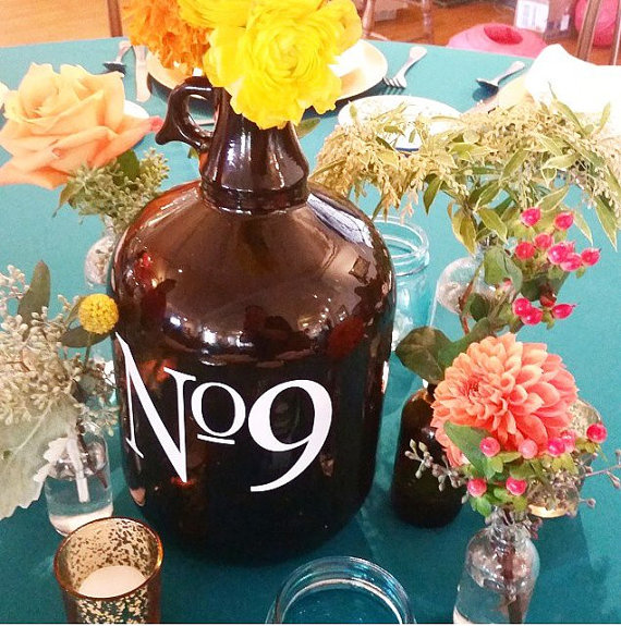 beer growler table number