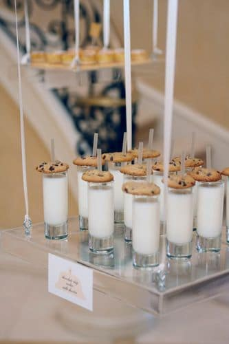 floating cookies and milk shots