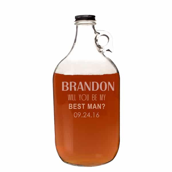 will you be my groomsman growler