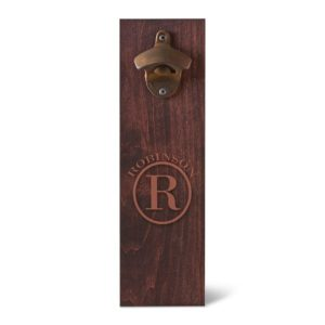 Personalized Rustic Cap Catcher Bottle Opener