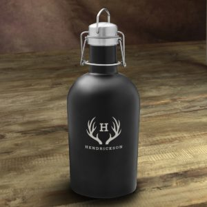 Black Matte Groomsmen Growler
