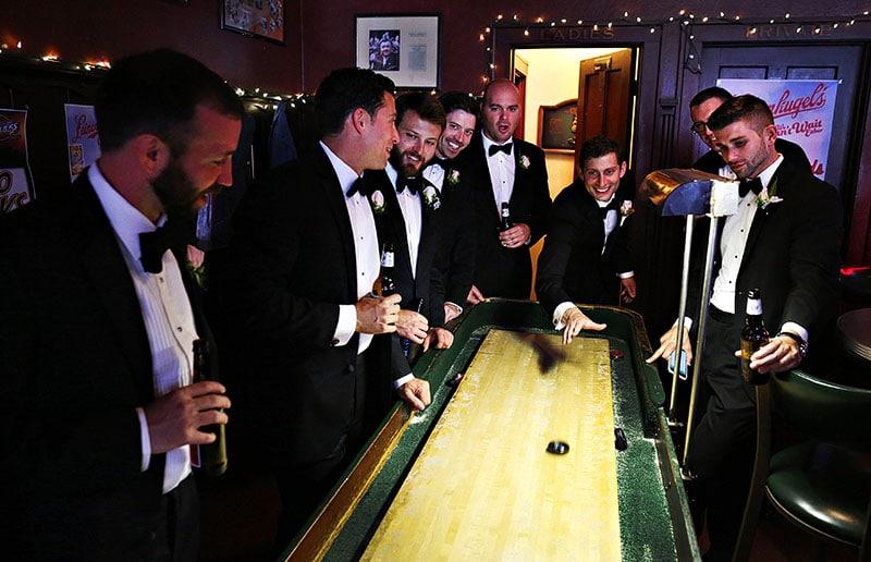 groomsmen shuffleboard