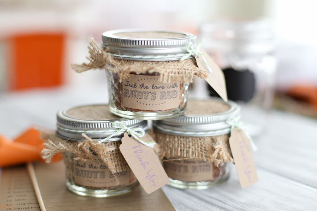 BBQ rub wedding favors