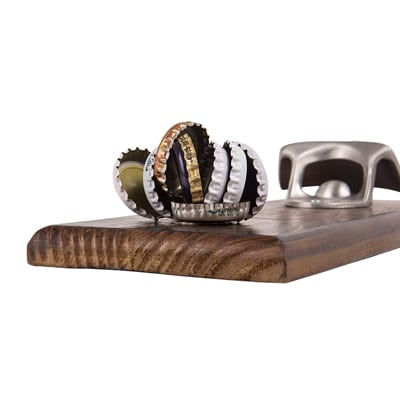 personalized wall mount bottle opener w magnetic cap catcher. Black Bedroom Furniture Sets. Home Design Ideas