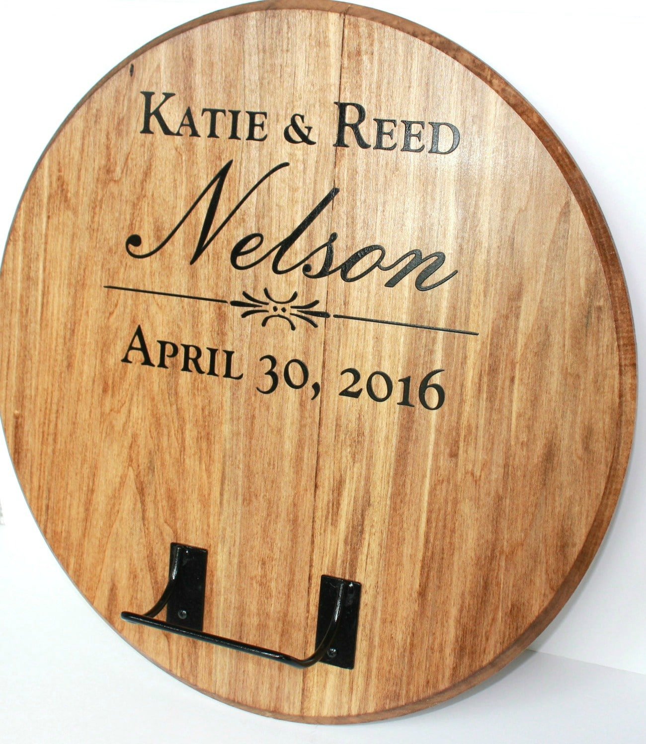 Your guests can sign the barrel head creating a long lasting memento for your home