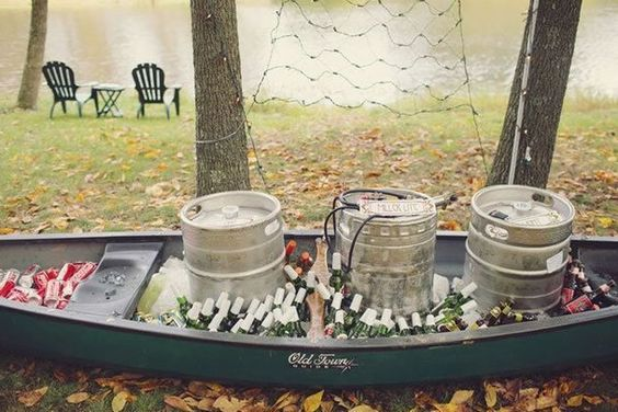 beer canoe for the reception