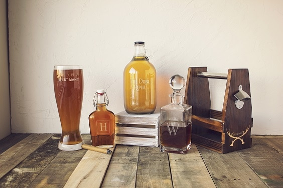 Wedding Gift Ideas For Beer Lovers : ... decanters or beer growlers to house flowers or use as table numbers