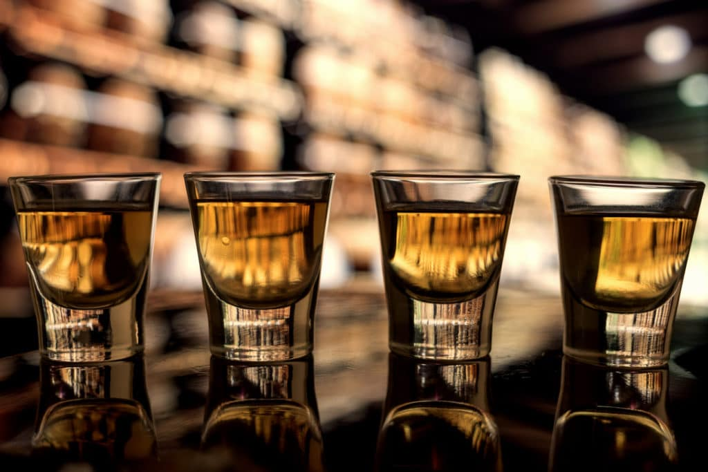 whiskey shots for the bachelor's party