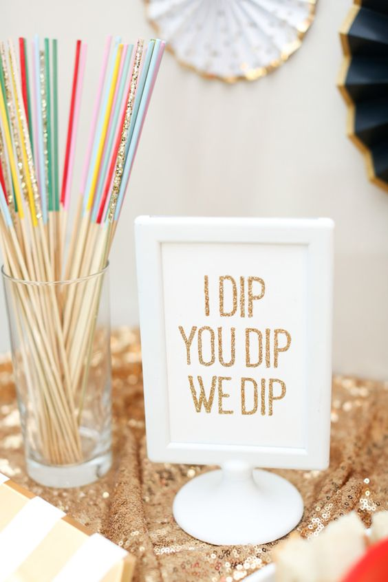 DIY wedding fondue station