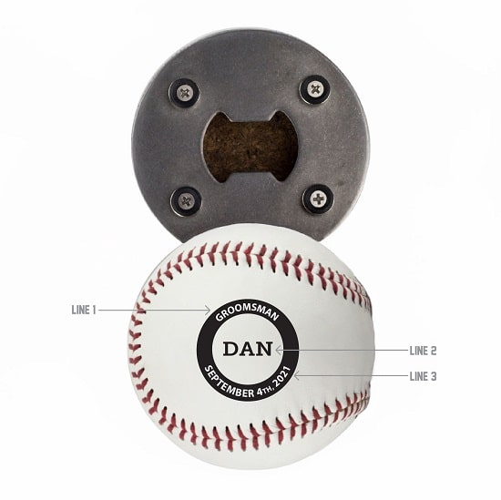 Custom Logo Design - Baseball Bottle Opener