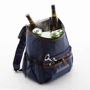 Personalized Blue On-The-Go Insulated Backpack Cooler