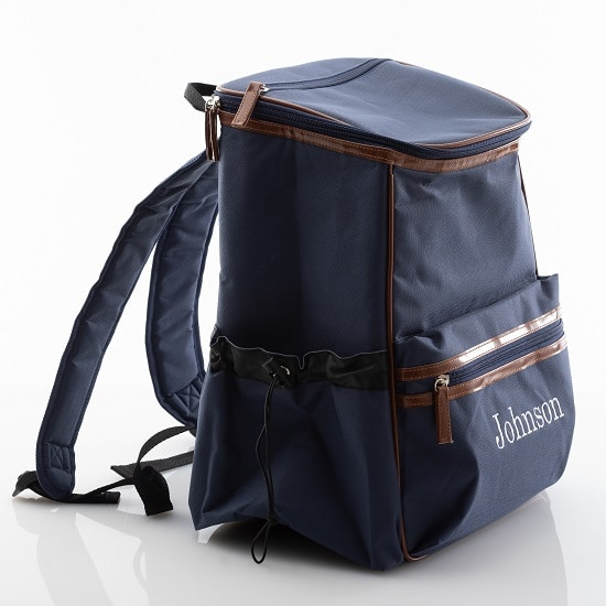 The backpack cooler is a comfortable one-size fits all with easy-to-use strap adjusters.