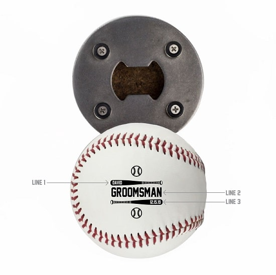 Two Bats Design - Baseball Botle Opener