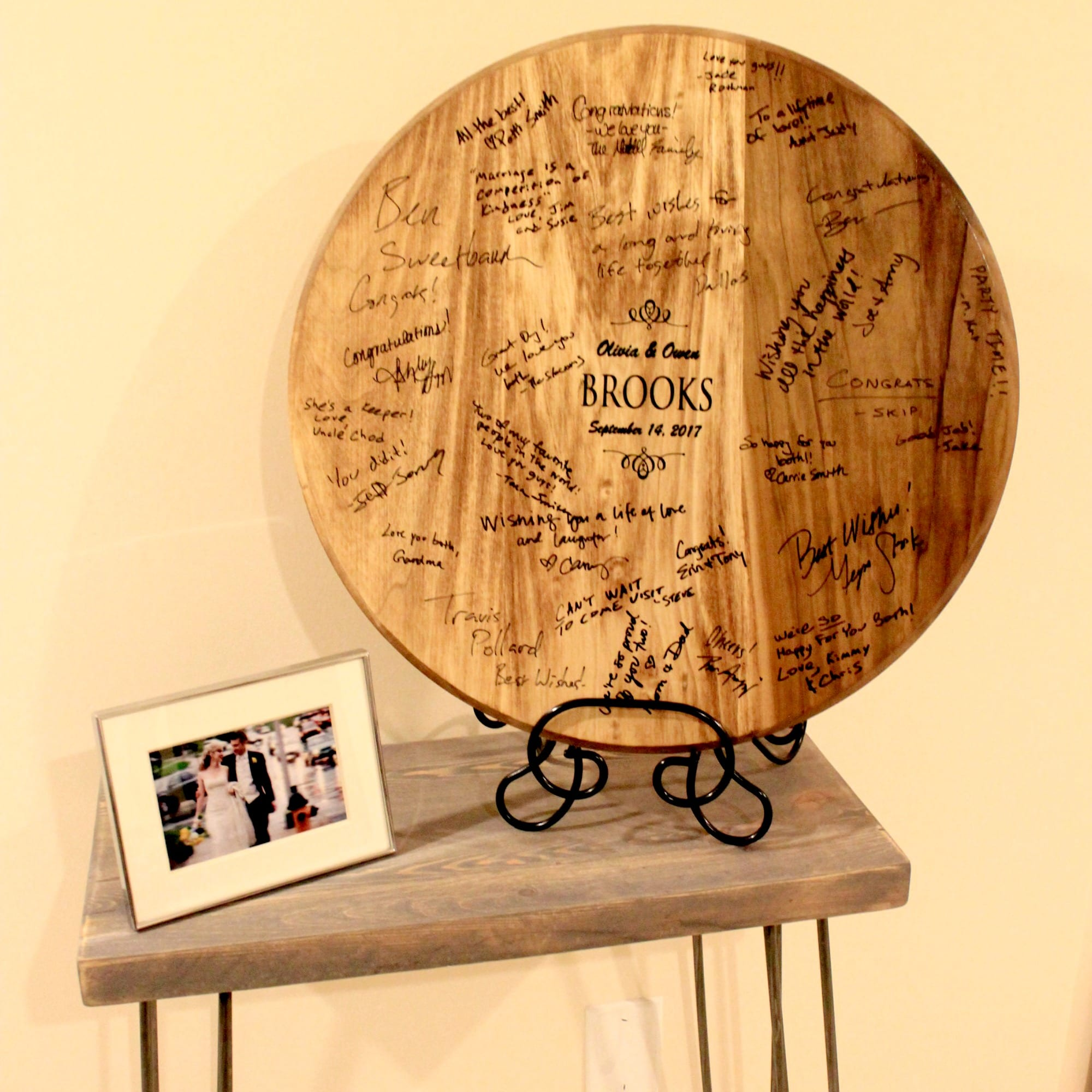 wine barrel guest book. Black Bedroom Furniture Sets. Home Design Ideas