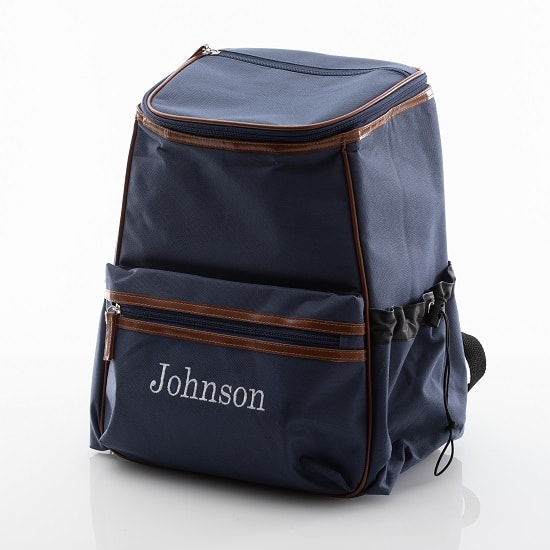 We'll personalize the backpack cooler by embroidering the receipieint's name or initials at no additional cost.