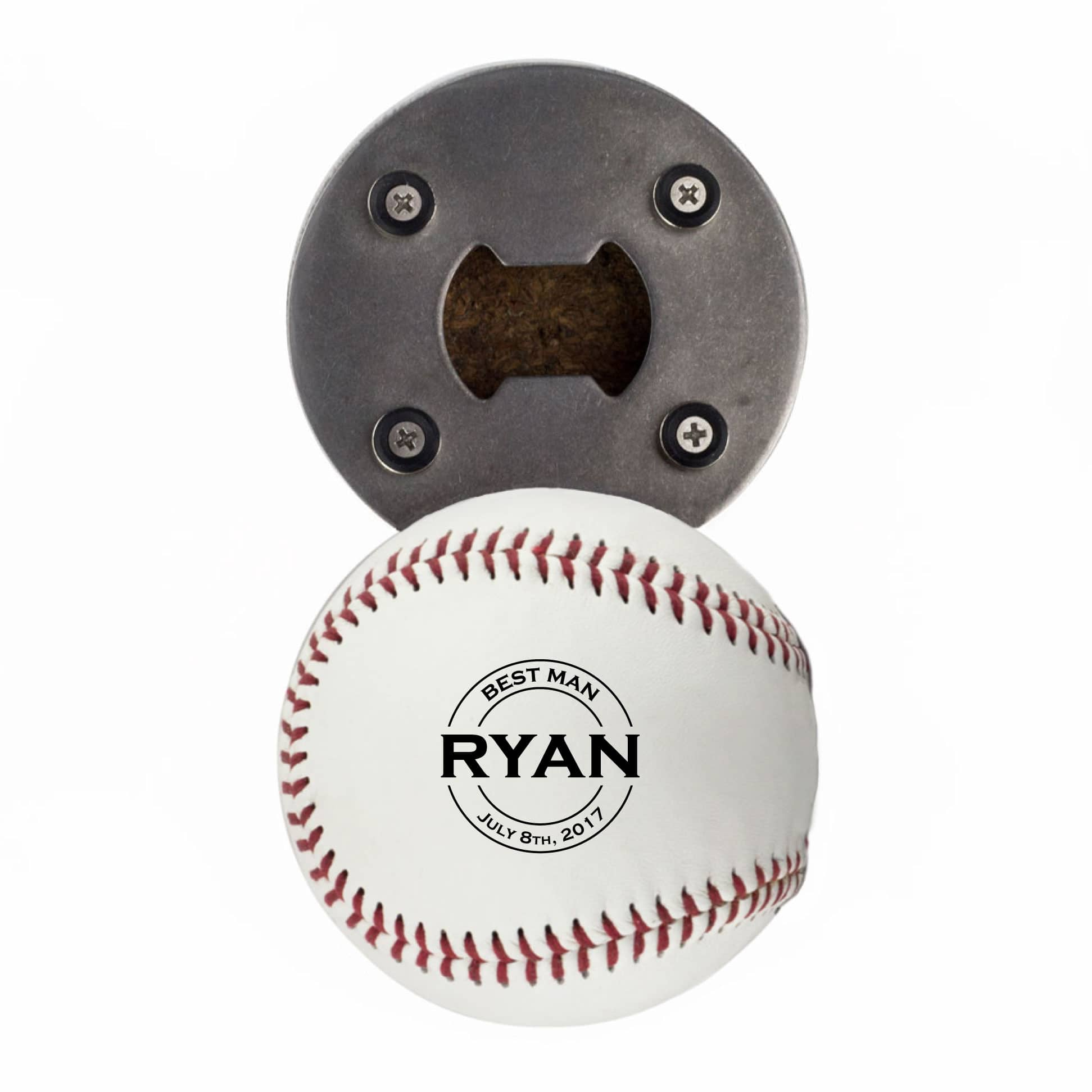 Personalized Baseball Bottle Opener