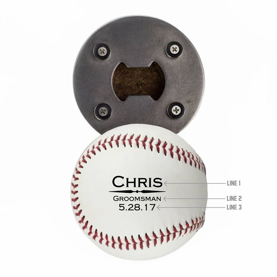 Baseball Bottle Opener - Single Divider Design