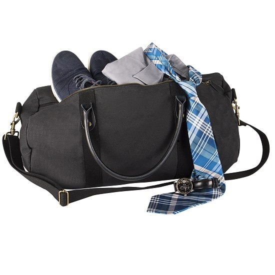 The TMR087 Black Groomsmen Duffle Bag is IDEAL for both the bachelor party and wedding weekends!