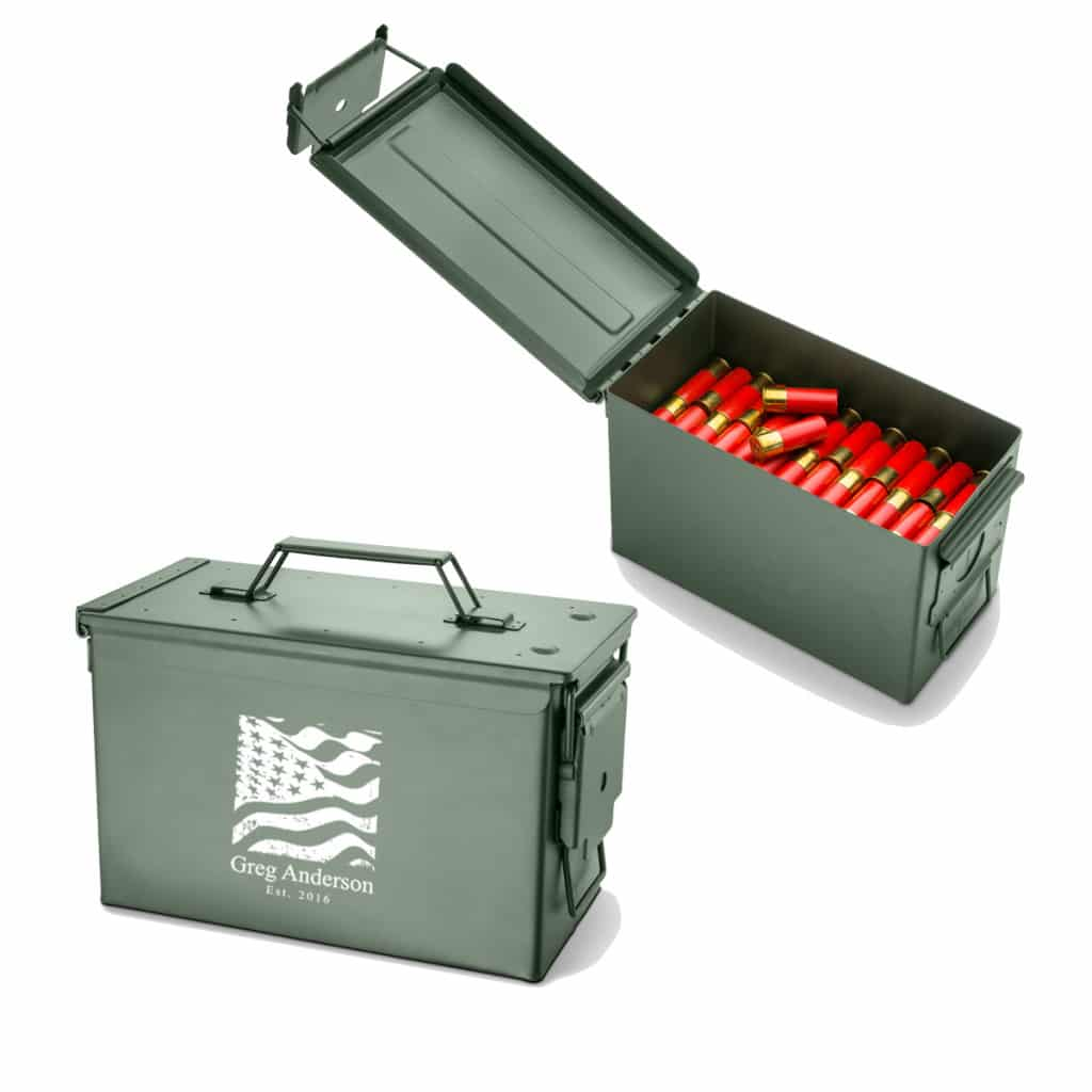 Personalized Metal Ammo Box - 7 Designs Available