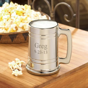Engraved Metallic 16oz. Beer Mug