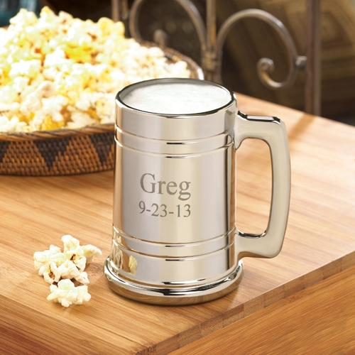 Engraved Metallic 16oz. Beer Mug