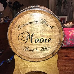 Personalized Wine Barrel Wedding Card Holder The Man Registry