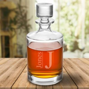Personalized Round 30oz. Whiskey Glass Decanter