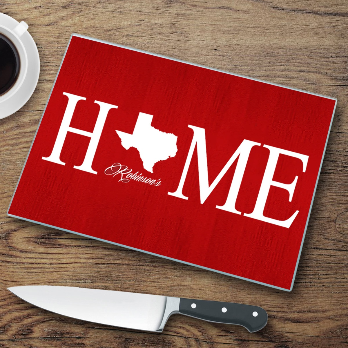 Personalized Home State Cutting Board