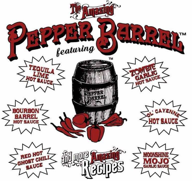 11 Pepper Barrel recipes are included with your order.