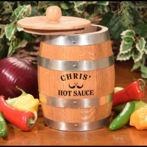 The Amazing Pepper Barrel is a personalized hot sauce making kit.