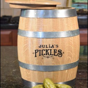 The Amazing Pickle Barrel – Personalized Barrel-Aged Pickling Kit