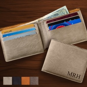 Personalized Leatherette Wallet