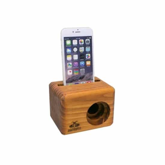 All iPhone models will fit in our Morph wooden cell phone speaker