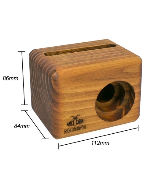 "The Morph Cell Phone speaker measures 4.4"" W x 3.39"" H x 3.31"" D."