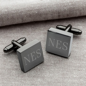 Custom gunmetal cufflinks are one of the best groomsmen gifts in 2019