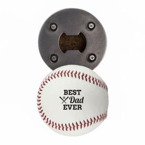 Best Dad Ever Baseball Bottle Opener