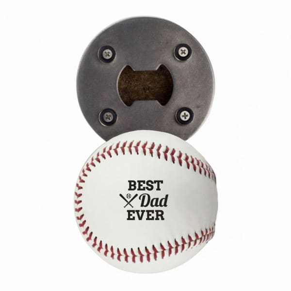 Best Dad Ever Baseball Bottle Opener
