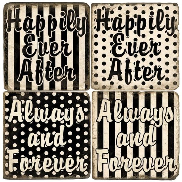 Happily Ever After Marble Coaster Set