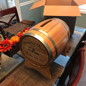 Personalized wine barrel wedding card holder the man registry absolutely beautifuli am beyond happy with what we received it is absolutely beautiful and i cant wait to use it for our wedding in a month altavistaventures Gallery