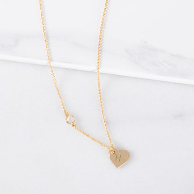 Engrave the heart charm with each of your bridesmaid's initials