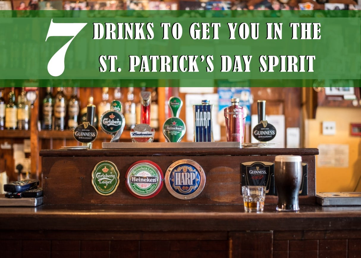 Beer taps lined up and ready for a good time on St. Patrick's Day
