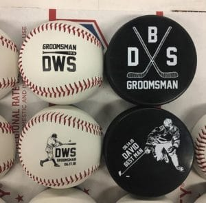 Multiple personalization designs are offered for our baseball and hockey puck bottle openers.