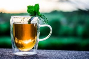 Hot Toddy with Mint To Enjoy Saint Patrick's Day