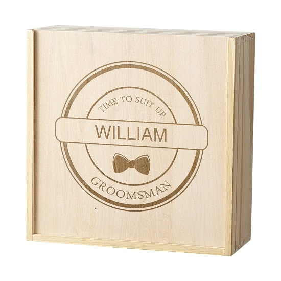 Front view of groomsman gift box (WD-GMB3981)