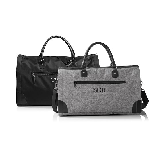 Personalized Men's Convertible Suit Saver Duffle Bag - 4144GY and HIS4046BK
