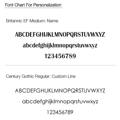 We'll engrave using these fonts on the WB-B2232 Bridesmaid Wine Glass