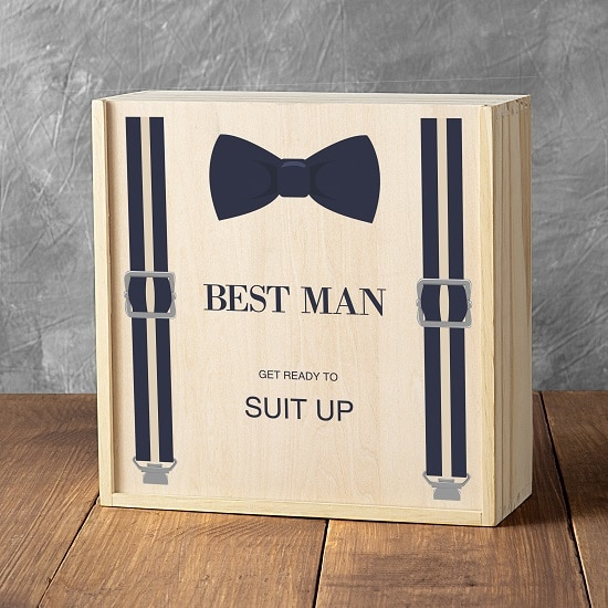 Only the finest gift crate will do for your best man.