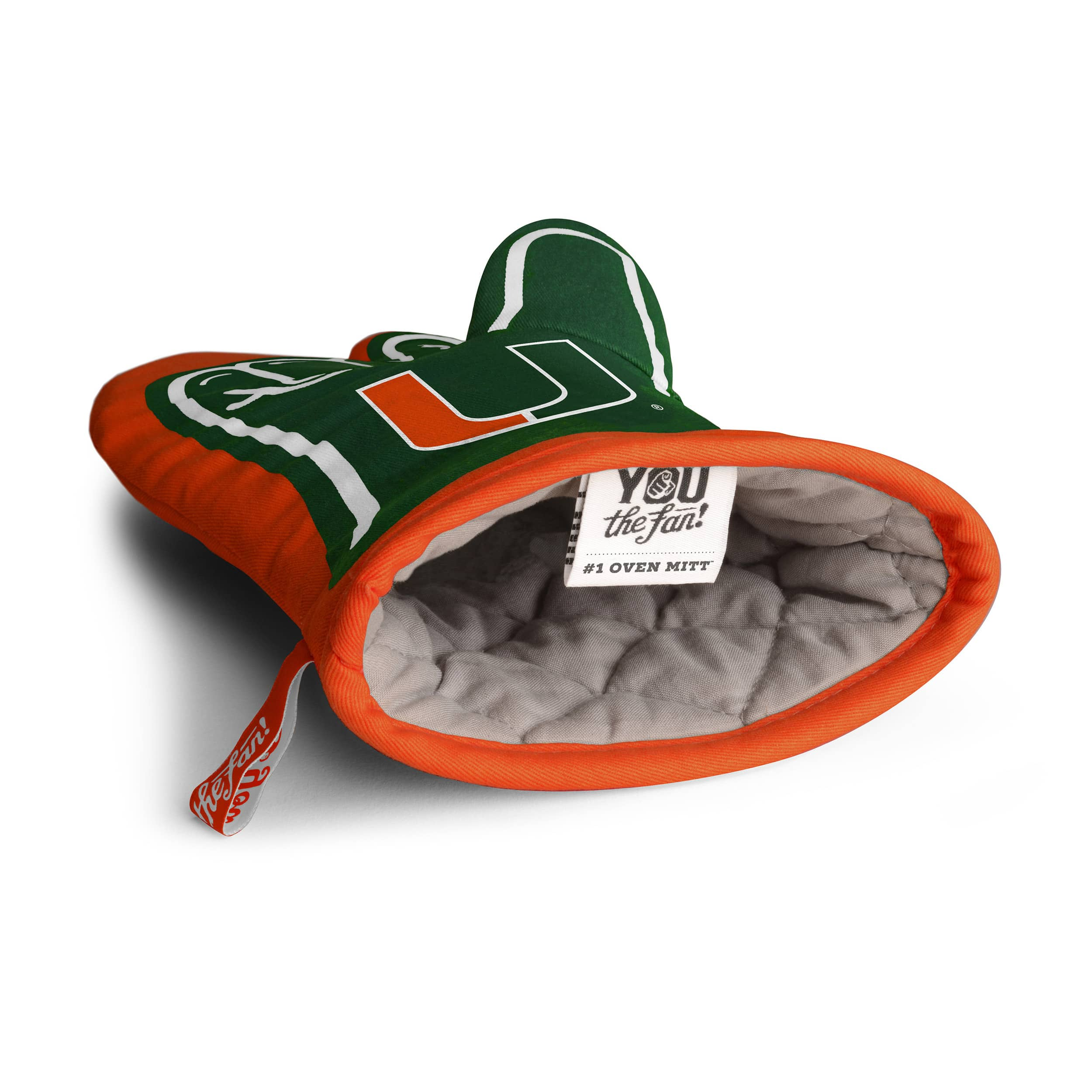 Inside of the NCAA College Oven Mitts