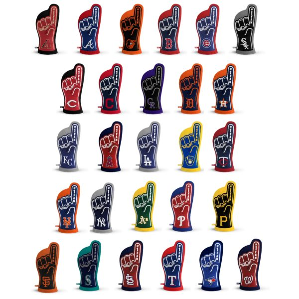 MLB Oven Mitt Team Designs
